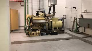 Detroit Diesel Backup Generator Running