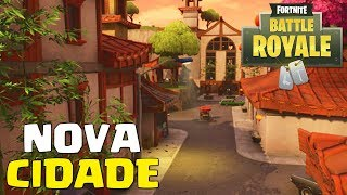 FORTNITE - CAIMOS NA NOVA CIDADE DO MAPA !!!