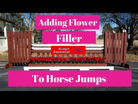 Adding Flowers To Horse Jumps Hunter Jump Reveal!