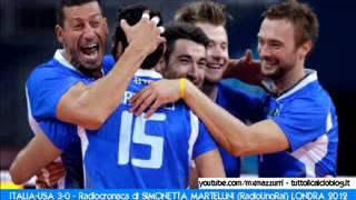 Londra 2012 - ITALIA-USA 3-0, quarti di finale Volley -  Cronaca di Simonetta Martellini (RadioUno)