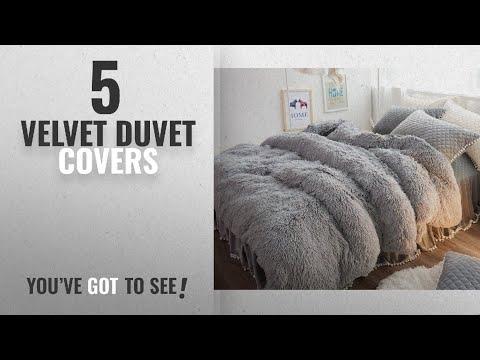 Top 10 Velvet Duvet Covers [2018]: Ceruleanhome 3pc 100% Velvet Flannel Duvet Cover Set, Solid