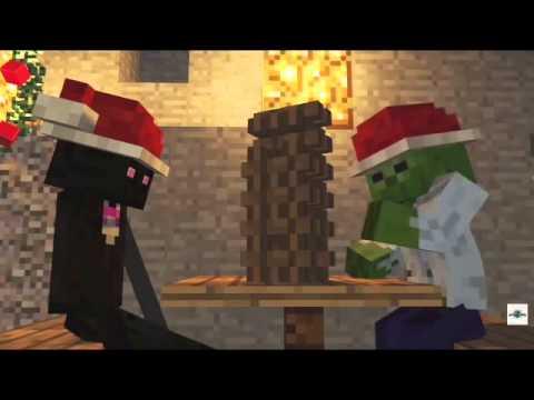 Майнкрафт новый год жители - YouTube