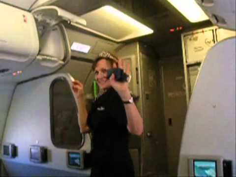 Frontier Airlines Flight Attendant Retirement Flight - YouTube