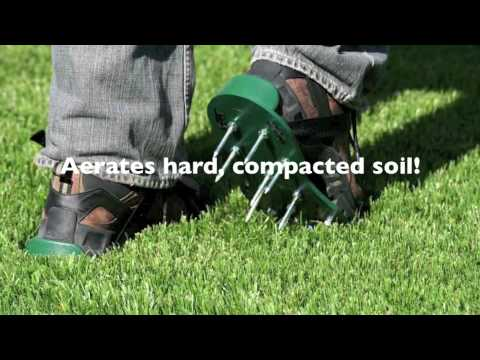 Lawn Aerator Shoes - YouTube