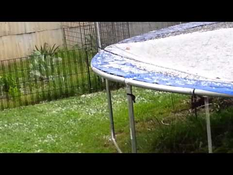 Backyard Hail Storm Part 2, El Cajon,  Ca, March 2
