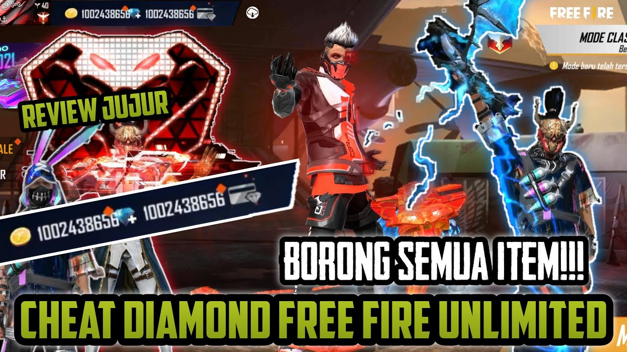 CHEAT DIAMOND FREE FIRE UNLIMITED APRIL 2021 !!! PART 3 ( REVIEW JUJUR ) AUTO BORONG SEMUA ITEM