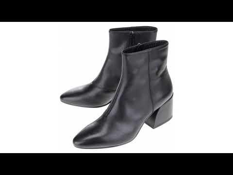 06ef850cd94 Černé dámské kožené kotníkové boty do špičky Vagabond Olivia
