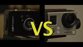 Go Pro Hero 3 vs Pyle Sports Hi Speed HD