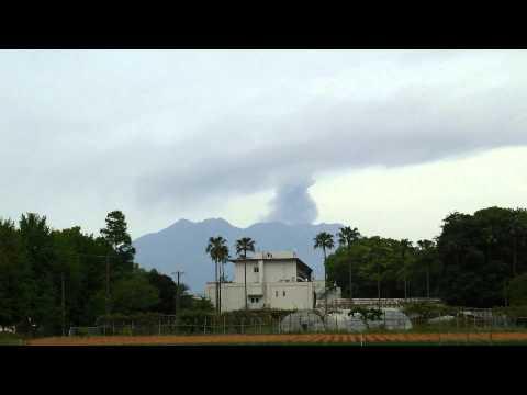 """Japan's Volcano Calbuco """"Mt.Sakurajima"""" Erupted! (23 April 2015) East Wind, Cloudy"""