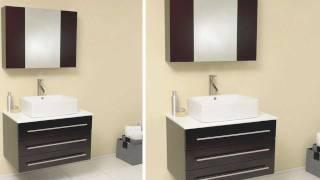 Fresca Modello Espresso Modern Bathroom Vanity w/ Ceramic Sink & Medicine Cabinet - FVN6183ES