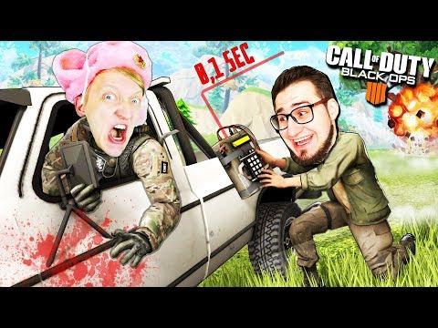 СТОЙ ОЛЕГ! У нас осталось 0.1 секунды до ВЗРЫВА МАШИНЫ В Call of Duty: Black Ops 4 (battle royale) thumbnail