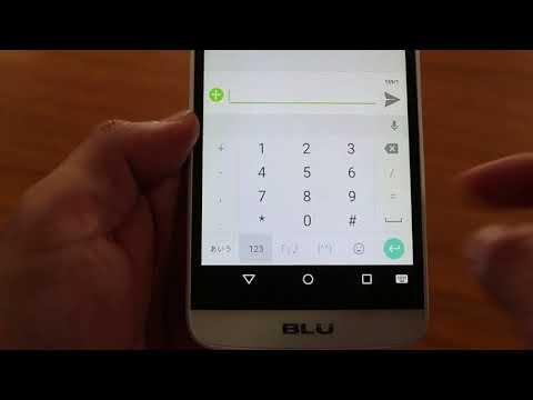 BLU Dash X Plus LTE 文字、数字の入力方法