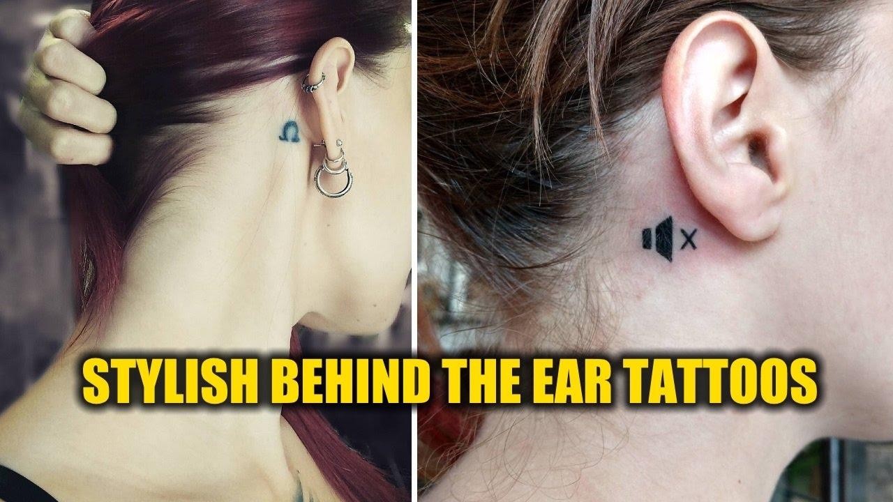 44ad9b3fd2c2e Stylish Behind the Ear Tattoo Designs - YouTube