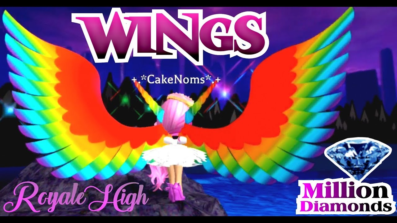 BUYING ALL THE WINGS | 💎 ONE MILLION DIAMONDS GLITCH in 👑 ROYALE HIGH  SCHOOL ROBLOX