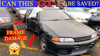 I FOUND THIS TOTALED NISSAN SKYLINE R32 GT-R AT THE SALVAGE AUCTION.  CAN IT BE SAVED?