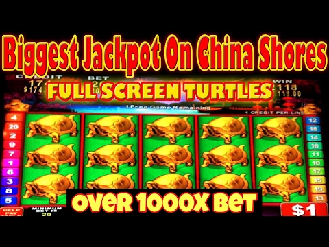 BIGGEST JACKPOT ON YOUTUBE ON CHINA SHORES HIGH LIMIT SLOT