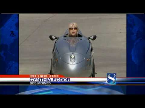 Iowan's Velomobile Saves Money, Gas