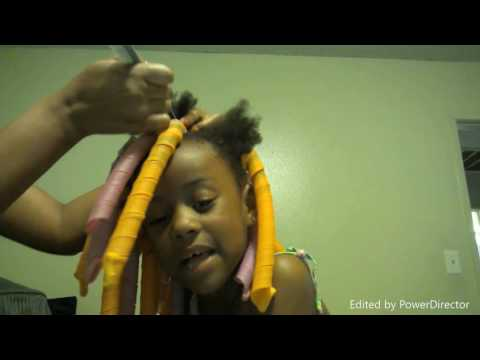 Natural hairstyle using The main choice & curl formers