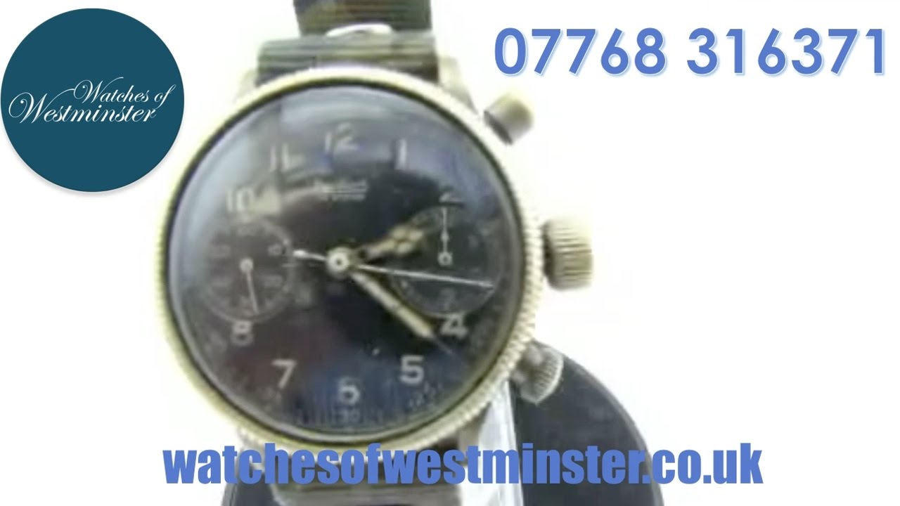 Pre Owned Hanhart Military Vintage WW2 Watch ( Luftwaffe .