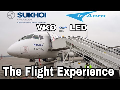Flying The Sukhoi SuperJet 100-95LR | The Flight Experience | Moscow VKO To St. Petersburg