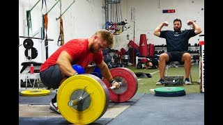 Wes Kitts Clean & Jerks 210kg While the Team Prepares For the Ao3 In Las Vegas