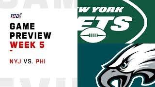 New York Jets vs. Philadelphia Eagles Week 5 NFL Game Preview