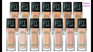 How To Choose Maybelline Fit Me Foundation Shade | Pick Your Perfect Shade of Foundation