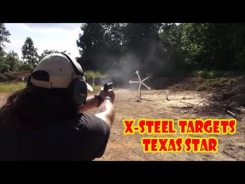X-Steel Targets Texas Star AR500 Target - Talking Lead