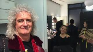 Brian May selfie stick after photo shoot 30/01/2019