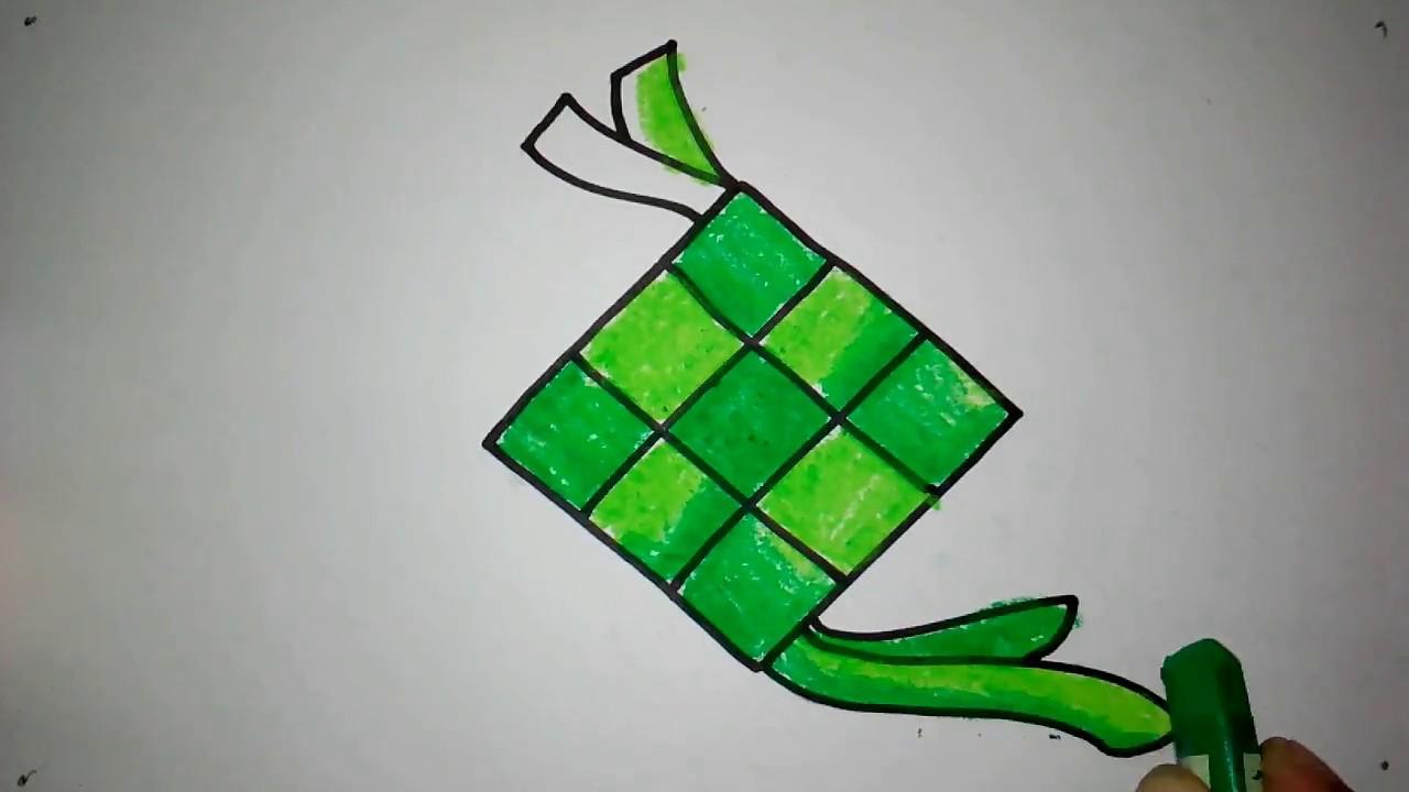 Cara Menggambar Ketupat Untuk Anak Tk Youtube