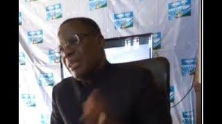 Maurice KAMTO  en conférence de presse ce lundi 13 Aout 2018