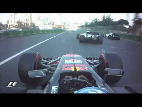 Ricciardo overtakes three cars in the Azerbaijan Grand Prix-2017