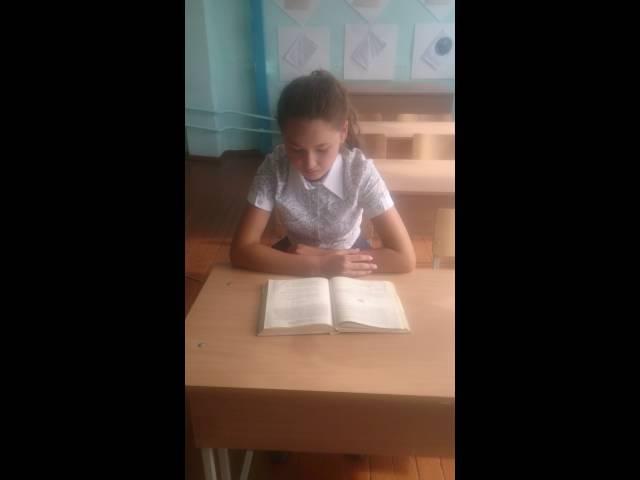 Изображение предпросмотра прочтения – АнгелинаХурамшина читает произведение «Детство» И.А.Бунина