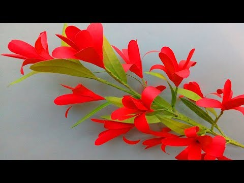 DIY Crafts: Easy Paper Flowers - How to Make Beautiful Stick Paper Flowers