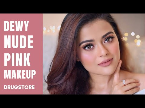 SOFT & DEWY NUDE PINK MAKEUP TUTORIAL   CLASSY & SIMPLE DRUGSTORE GLAM