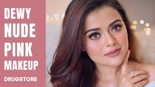 SOFT & DEWY NUDE PINK MAKEUP TUTORIAL | CLASSY & SIMPLE DRUGSTORE GLAM