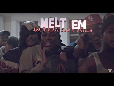OTB Lil 3 x Lil Dan x Drilla - Melt'Em |OFFICIAL MUSIC VIDEO | SHOT BY @Cuzzoshotthis  @Dahoodnerds