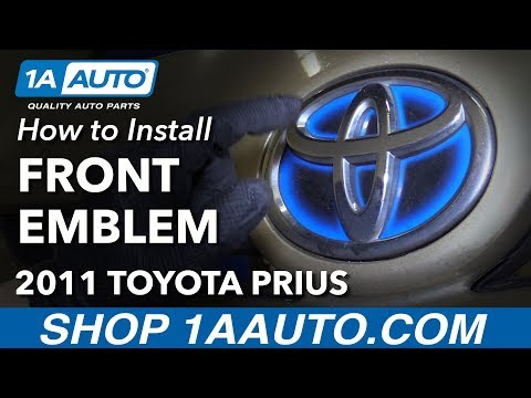 How to Install Replace Front Emblem 2011 Toyota Prius