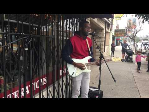 Cynthia Brando-Busking in Los Angeles-with Christopher Watson