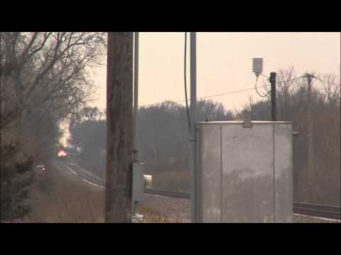 Thumbnail: 110mph NB Amtrak 302 on Illinois HSR - E 2700N Rd - Odell, IL - Dec. 2nd, 2012