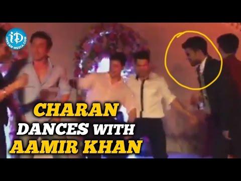 Ram Charan Dances with Aamir Khan and Sohail Khan @ Arpita Khan Wedding