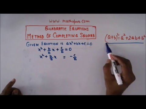 Completing Square method for general quadratic equation
