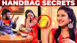 Alya Manasa's GLAMOROUS HANDBAG Secrets | What's Inside the HANDBAG