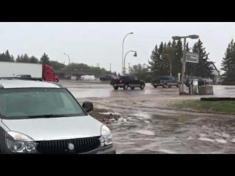 Snow in Wynyard Sask 11th May