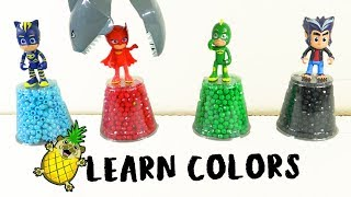 PJ Mask Toys and Shark Learn Colors! Hidden Surprises by Puggy Pineapple