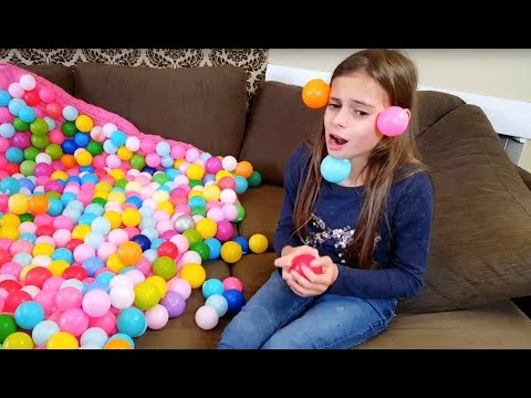 Crazy Balls  Everywhere ! Skit with Plastic Balls