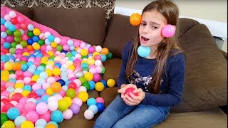 Crazy Balls  Everywhere ! Skit with Plastic Balls thumbnail