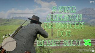 Super Clean 3 Star American Pronghorn Doe Kill Perfect Pelt - Red Dead Redemption 2