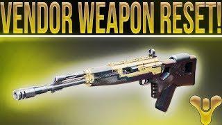 Destiny 2 VENDOR WEAPON RESET! Best Weapons To Buy 1-10-2018. NPC Weapon Refresh.