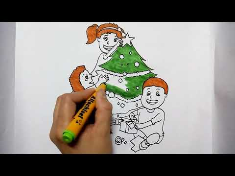 Christmas Day Drawing Images.Christmas Day Drawing For Kids